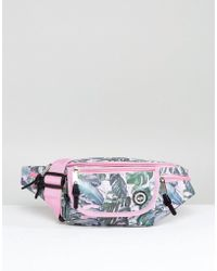 Hype - Exclusive Pastel Garden Palm Print Fanny Pack - Lyst