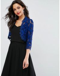 Forever Unique - Lace Cropped Jacket - Lyst