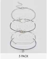 New Look - 5 Pack Bracelets - Lyst
