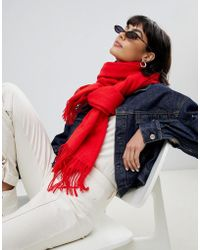 Weekday - Wool Scarf In Red - Lyst