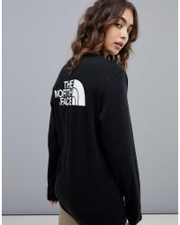 The North Face - Easy Long Sleeve Top In Black - Lyst