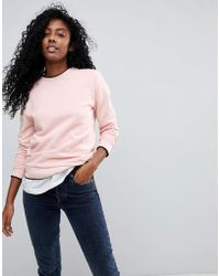 SELECTED - Femme Sweatshirt With Contrast Trim - Lyst