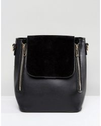 Liquorish - Minimal Double Zip Backpack - Lyst