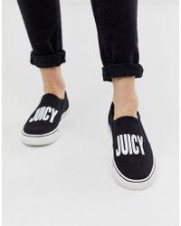 Juicy Couture Logo Slip On Sneaker In Black