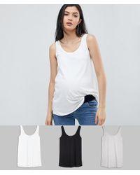 ASOS - Asos Design Maternity Ultimate Vest 3 Pack - Lyst