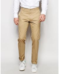Vito - Super Skinny Cotton Suit Trousers - Lyst