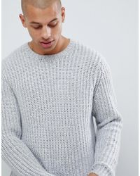 d60abf10e7ada7 ASOS Tall Heavyweight Fisherman Rib Roll Neck Sweater In Faded Pink in Pink  for Men - Lyst