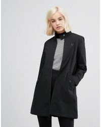 Fred Perry - Retro High Neck Coat - Lyst