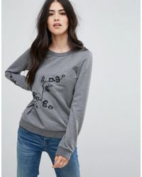 Vila - Sweatshirt With Motif - Lyst