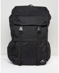 Hollister - Backpack Roll Top In Black - Lyst