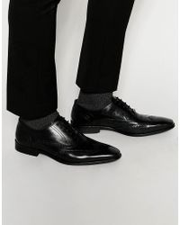 Dune - Leather Wing Tip Brogues - Lyst