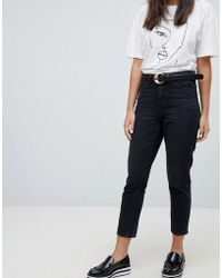 ONLY - High Waisted Mom Jean - Lyst