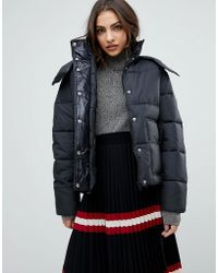Warehouse - Premium Padded Coat - Lyst