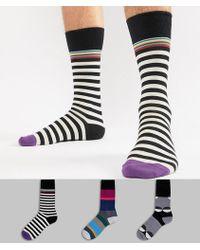 Paul Smith - Stripe/polka Dot Socks 3 Pack - Lyst
