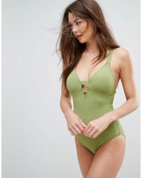 Seafolly - Green Swimsuit - Lyst