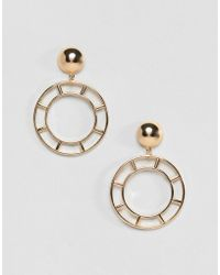 ASOS - Design Cut Out Circle Drop Earrings - Lyst