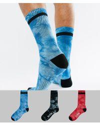 Globe - Tie Dye Socks With Logo 3 Pack - Lyst