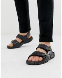 Rider - Tender Sandal With Chunky Sole In Black - Lyst