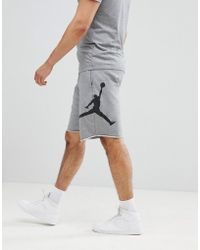 Nike - Nike Air Fleece Shorts In Grey Aq3115-091 - Lyst