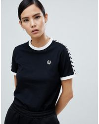 Fred Perry - Ringer T-shirt With Taping - Lyst