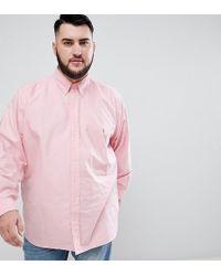 Polo Ralph Lauren - Big & Tall Oxford Shirt Player Logo Buttondown In Pink - Lyst