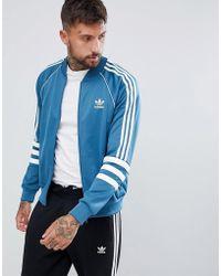 adidas Originals - Authentic Superstar Track Jacket In Blue Dj2857 - Lyst