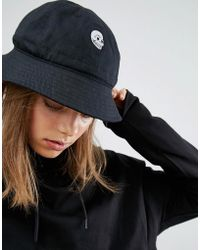 Cheap Monday - Bucket Hat In Black Cotton Canvas - Lyst