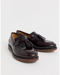 a010af1214d H by Hudson - Calne Loafers In Burgundy High Shine - Lyst