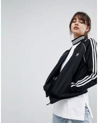 adidas Originals - Adicolor Three Stripe Track Jacket In Black - Lyst