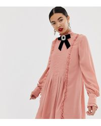 ae4f1930f River Island Plus Light Pink Embellished Belted Kimono in Pink - Lyst