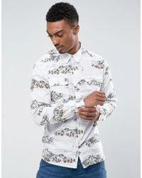 Bellfield - Shirt In Mountain Print - Lyst