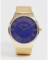 Steve Madden - Mens Mesh Watch With Blue Dial - Lyst