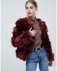New Look - Fluffy Faux Fur Coat - Lyst