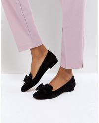 Dune - London Graciano Suede Flat Show With Bow - Lyst