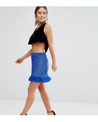 ASOS - Embellished Mini Skirt - Lyst