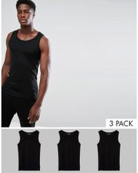 French Connection - 3 Pack Lounge Vest - Lyst