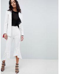 Elliatt - Striped Cropped Tailored Pant - Lyst