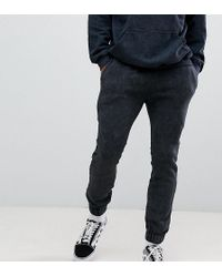 Reclaimed (vintage) - Inspired Overdye jogger In Washed Black - Lyst