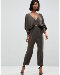 ASOS - Design Jumpsuit With Kimono Sleeve And Peg Leg - Lyst