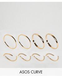 ASOS - Pack Of 8 Minimal Rings - Lyst
