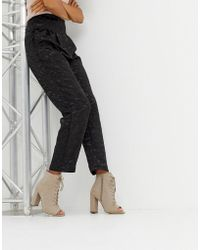New Look - Lace Up Block Heeled Boots - Lyst