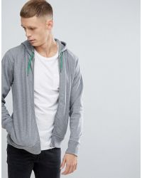 PS by Paul Smith | Hooded Zip Through Sweat In Grey Marl | Lyst