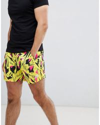Nike - 90's Pack Printed Shorts In Yellow Aq2276-740 - Lyst