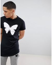 Good For Nothing - Muscle T-shirt In Black With Butterfly Logo - Lyst