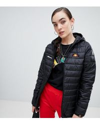 Ellesse - Zip Front Padded Jacket With Hood - Lyst