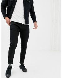 D-Struct - Skinny Fit Denim Jeans In Black - Lyst