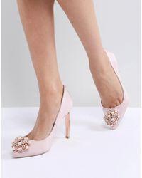 Ted Baker - Peetch Light Pink Embellished Shoes - Lyst