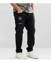 Only & Sons | Plus Carrot Fit Jeans With Badge Details | Lyst