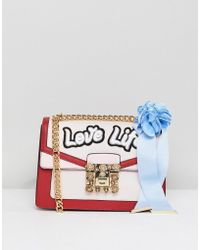 ALDO - Top Handle Cross Body Bag With Love Life Embroidery - Lyst