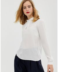 SELECTED - Femme Roll Neck Blouse - Lyst